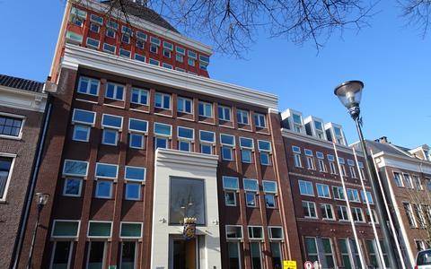 Het provinciehuis aan de Tweebaksmarkt in Leeuwarden. FOTO LC
