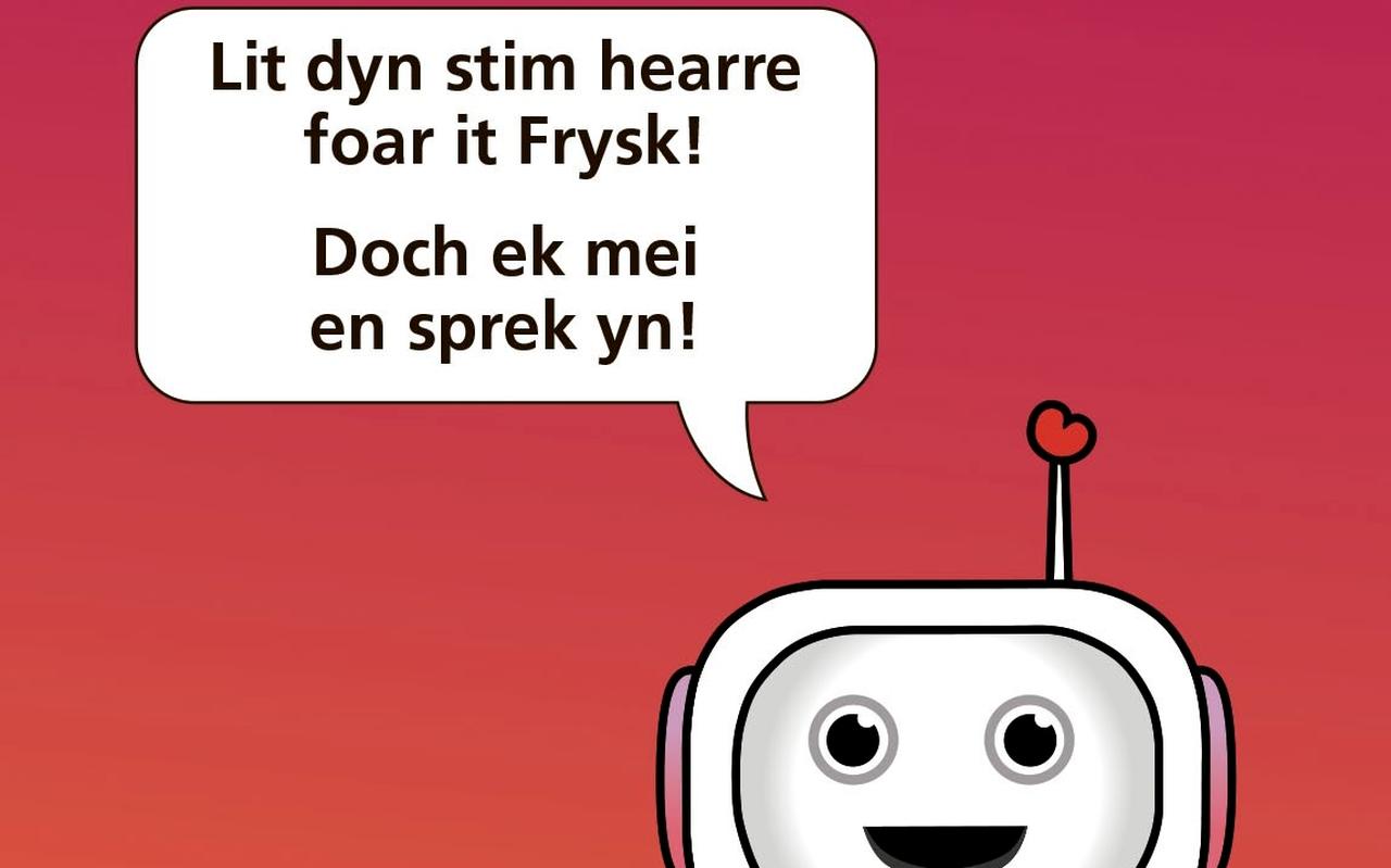 Met deze flyer werd de Fryske Ynsprekwike gepromoot.