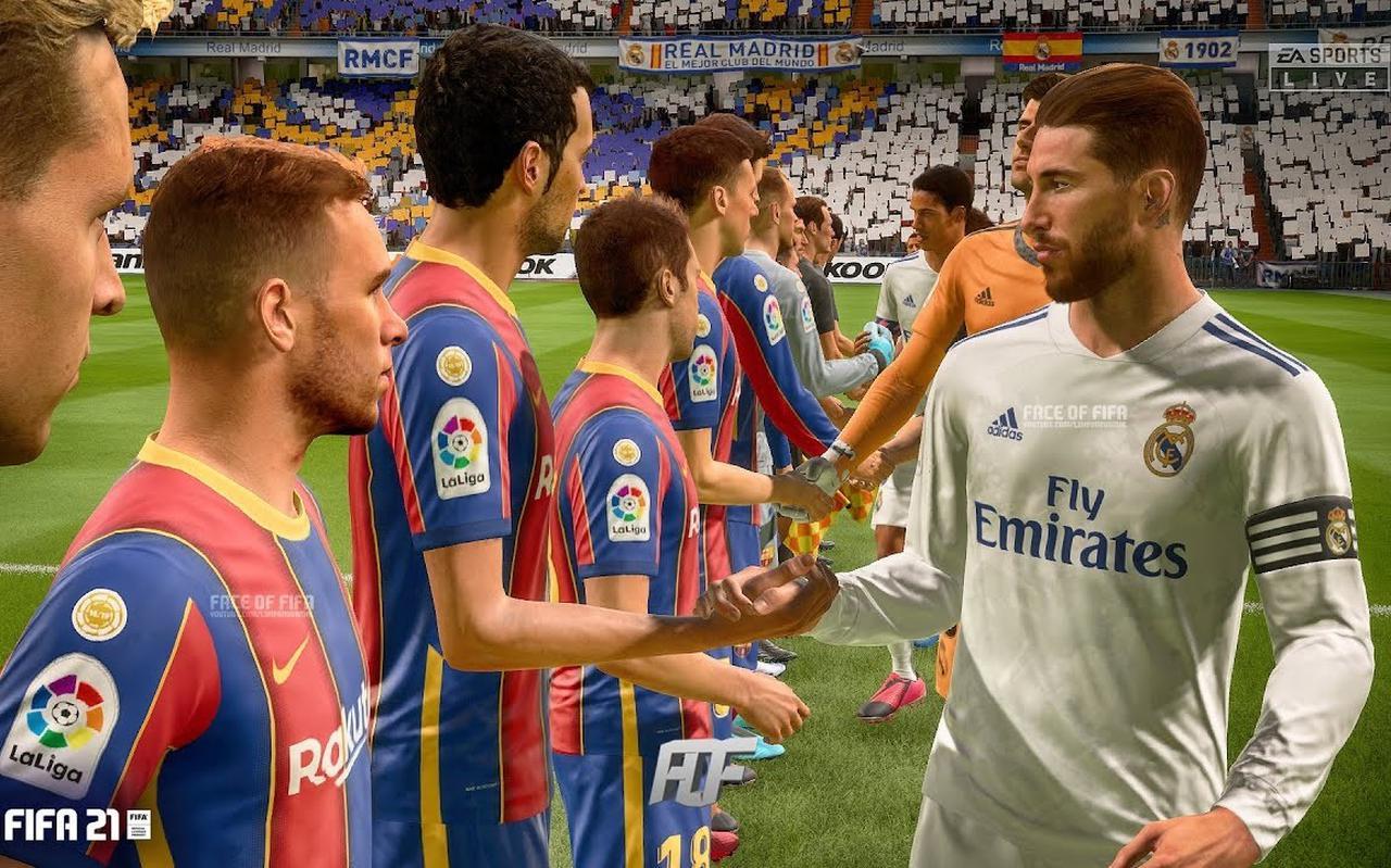 Een scène uit FIFA 21.