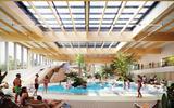 Impressie van het nieuwe zwembad in Drachten.