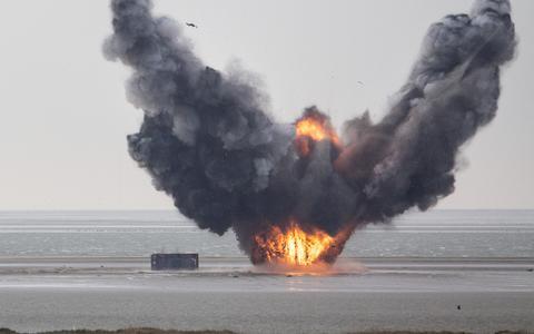 Een bom op Vliehors Range.