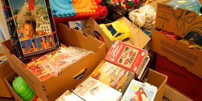 Inzameling van speelgoed om te ruilen