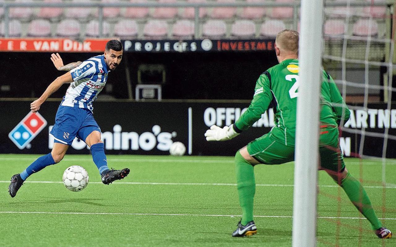 Rami Kaib tijdens zijn debuut in de gewonnen bekerwedstrijd tegen FC Emmen (1-2).