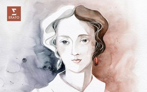 Portret van de negentiende-eeuwse componiste Louise Farrenc.