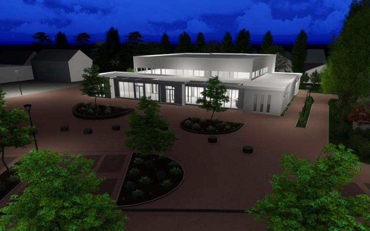 Een ontwerp van het toekomstige mfa Sexbierum-Pietersbierum