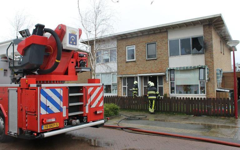 Bovenverdieping woning in Dokkum uitgebrand