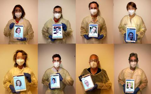 Beschermde coronazorgers krijgen dankzij een iPad en foto een gezicht: 'Dat is persoonlijker'