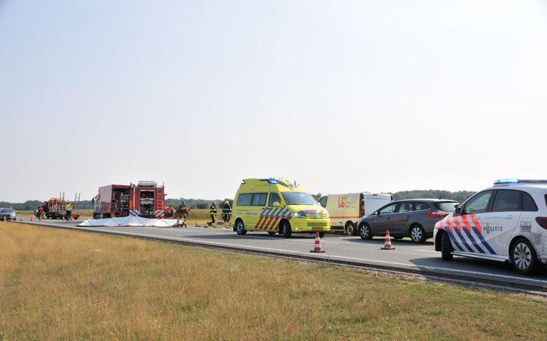 Ernstig ongeval N381 tussen Oosterwolde en Appelscha, weg afgesloten.