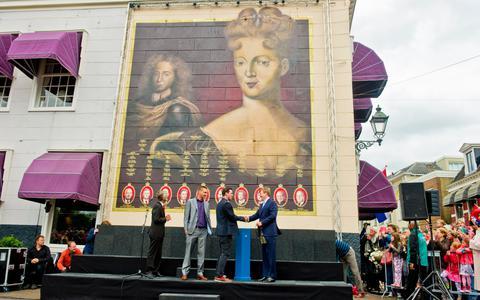 Muurschildering Maria Louisa verwijderd en vervangen