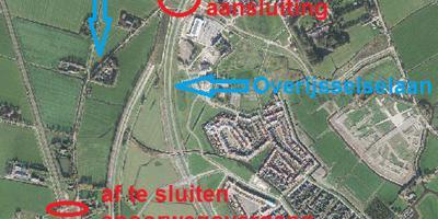 Kaart van het gebied, zoals het in het nieuwe bestemmingsplan is opgenomen.