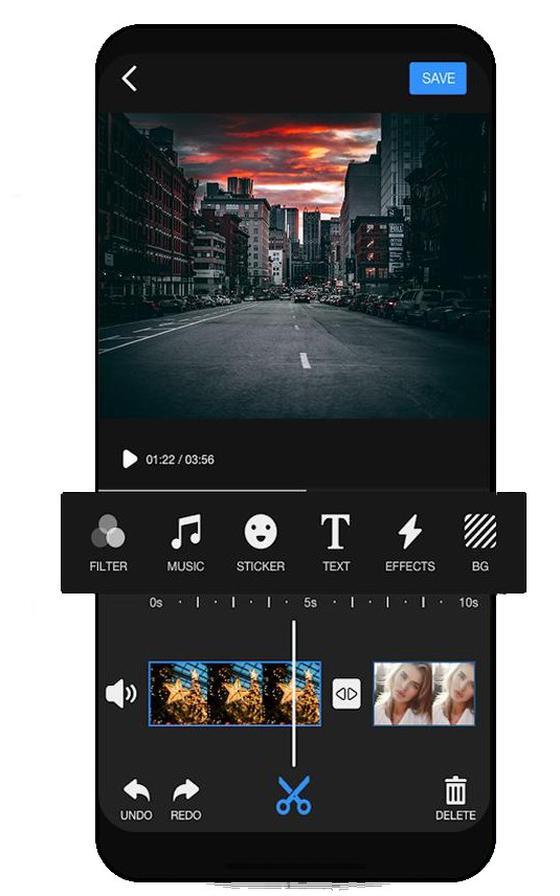De app Videoleap.