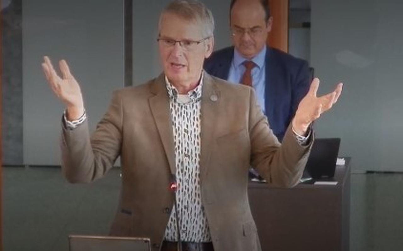 Wethouder Theo Berends (ChristenUnie) van Noardeast-Fryslân. SCREENSHOT IBABS