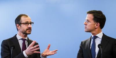 Minister Wiebes en premier Rutte reageren op de doorrekening van het ontwerp-klimaatakkoord. Foto ANP/BART MAAT