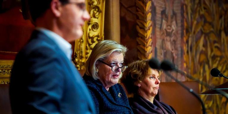 Een debat in de Eerste Kamer. Foto ANP