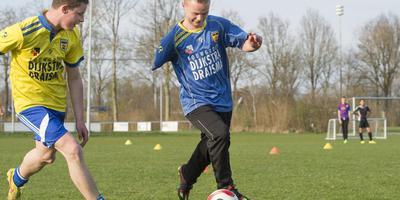 Sybren Bosma op de training. FOTO MARCEL VAN KAMMEN