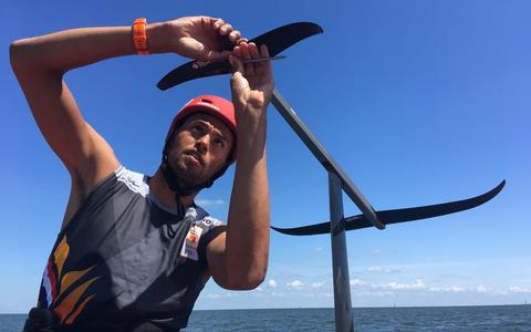 Windsurfen wordt spectaculairder met een vleugelplank