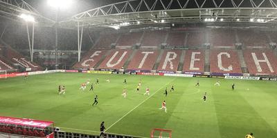 Beeld uit de wedstrijd Jong FC Utrecht-Cambuur. FOTO LC