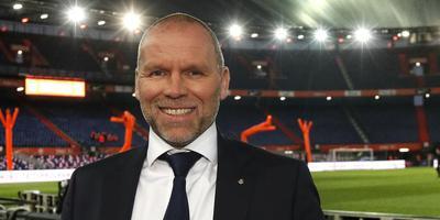 Directeur topvoetbal Nico Jan Hoogma van de KNVB in De Kuip, voor de wedstrijd van Nederland tegen Wit-Rusland van donderdag. FOTO HENK JAN DIJKS
