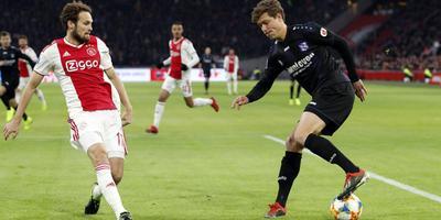 SC Heerenveen-spits Sam Lammers (rechts). FOTO VI IMAGES