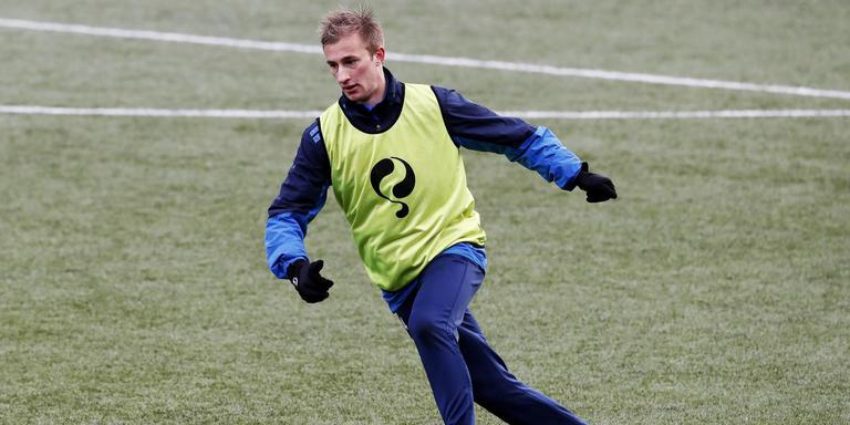 Robert van Koesveld op de training van Cambuur, in aanloop naar het uitduel met Helmond Sport. FOTO HENK JAN DIJKS