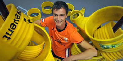 Erwin Zwart in het shirt van Oranje.
