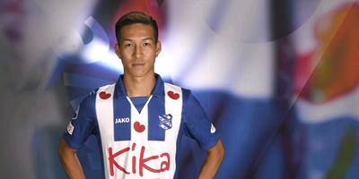 Yuki Kobayashi in het shirt van zijn nieuwe club SC Heerenveen. FOTO FPH/MUSTAFA GUMUSSU