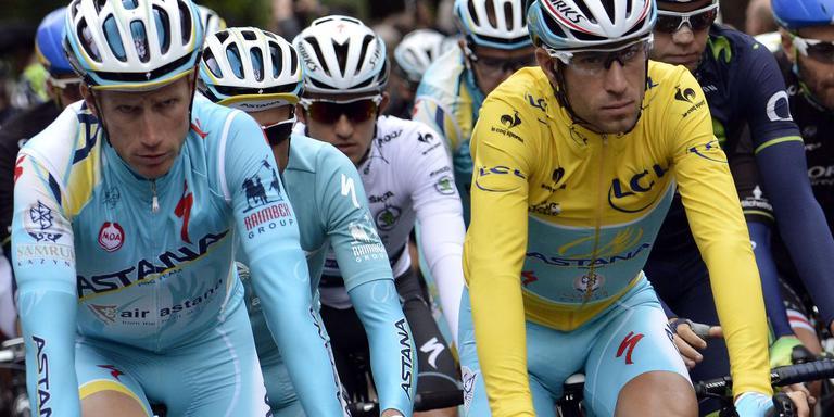 Lieuwe Westra stijdens de Tour de France van 2014. FOTO AFP