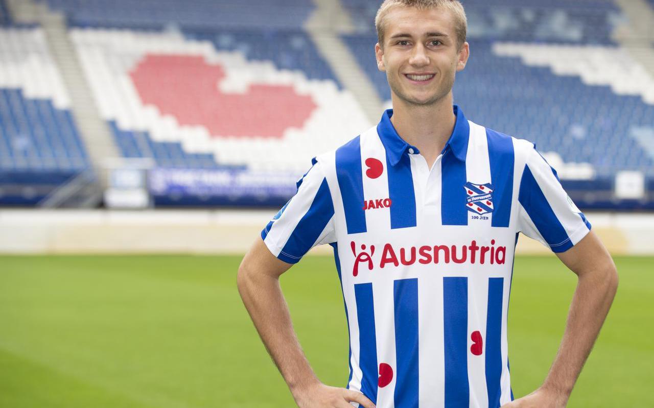 """Benjamin Nygren in het Abe Lenstra-stadion: ,,Ik heb alleen maar goede verhalen over deze club gehoord."""""""