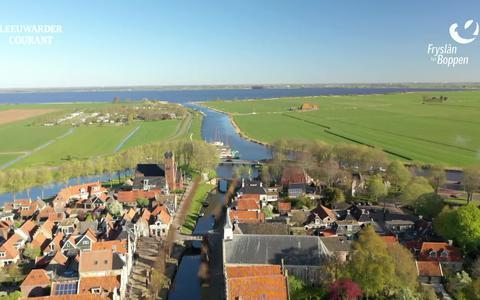 Bekijk hier de vierde dronevlucht van Fryslân fan Boppen: de elfstedenroute van Leeuwarden tot Stavoren
