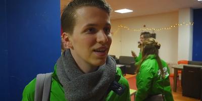 GroenLinks voert campagne onder internationale studenten. Foto: Tomas Plagge