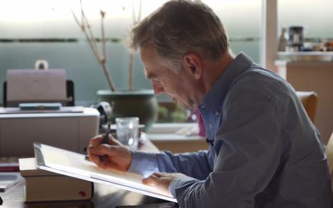 Wie is toch die man die elke dag De Rechter tekent?
