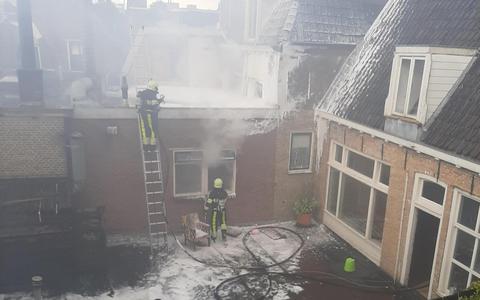 Woordvoerder Marten Klaas Brinksma over de grote brand in de binnenstad van Leeuwarden