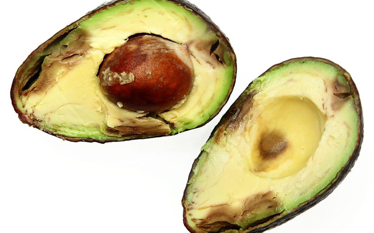 Een overrijpe avocado